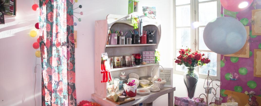 Intérieur de la boutique Rose Citron à Leucate