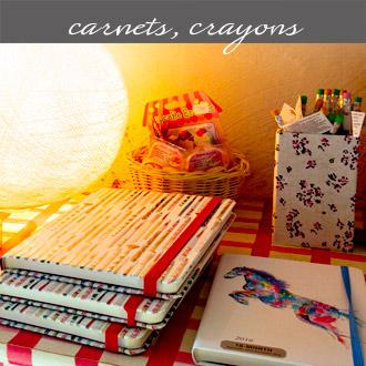 Les cahiers, crayons et gommes proposés par Rose Citron à Leucate