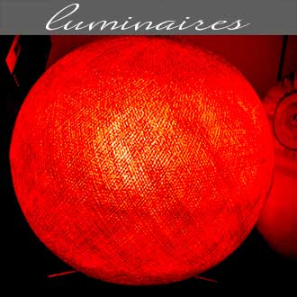Les luminaires proposés par Rose Citron, magasin à Leucate