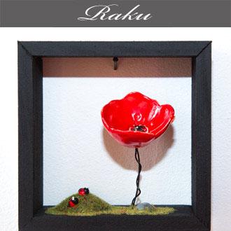 Oeuvres en raku proposés par Rose Citron à Leucate