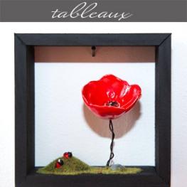 Les tableaux proposés par Rose Citron, magasin à Leucate