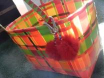 sac tressé en plastique recyclé.2016