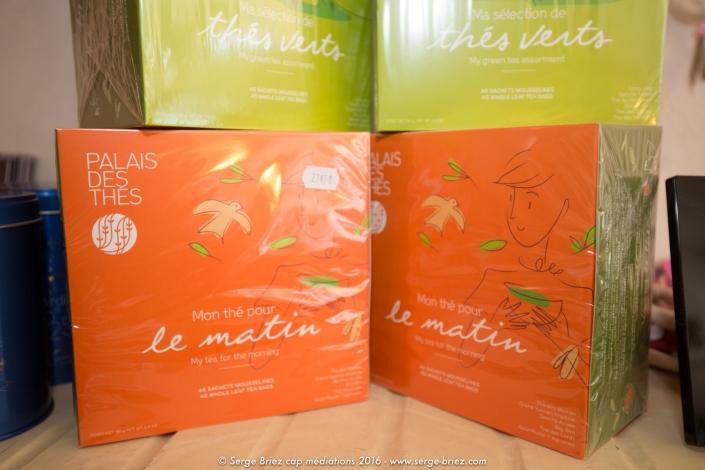 coffret de thés Palais des thés. rose citron;Serge Briez 2016