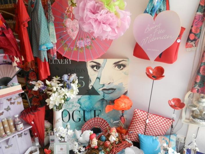 vitrine fêtes de mères.Rose citron 2016
