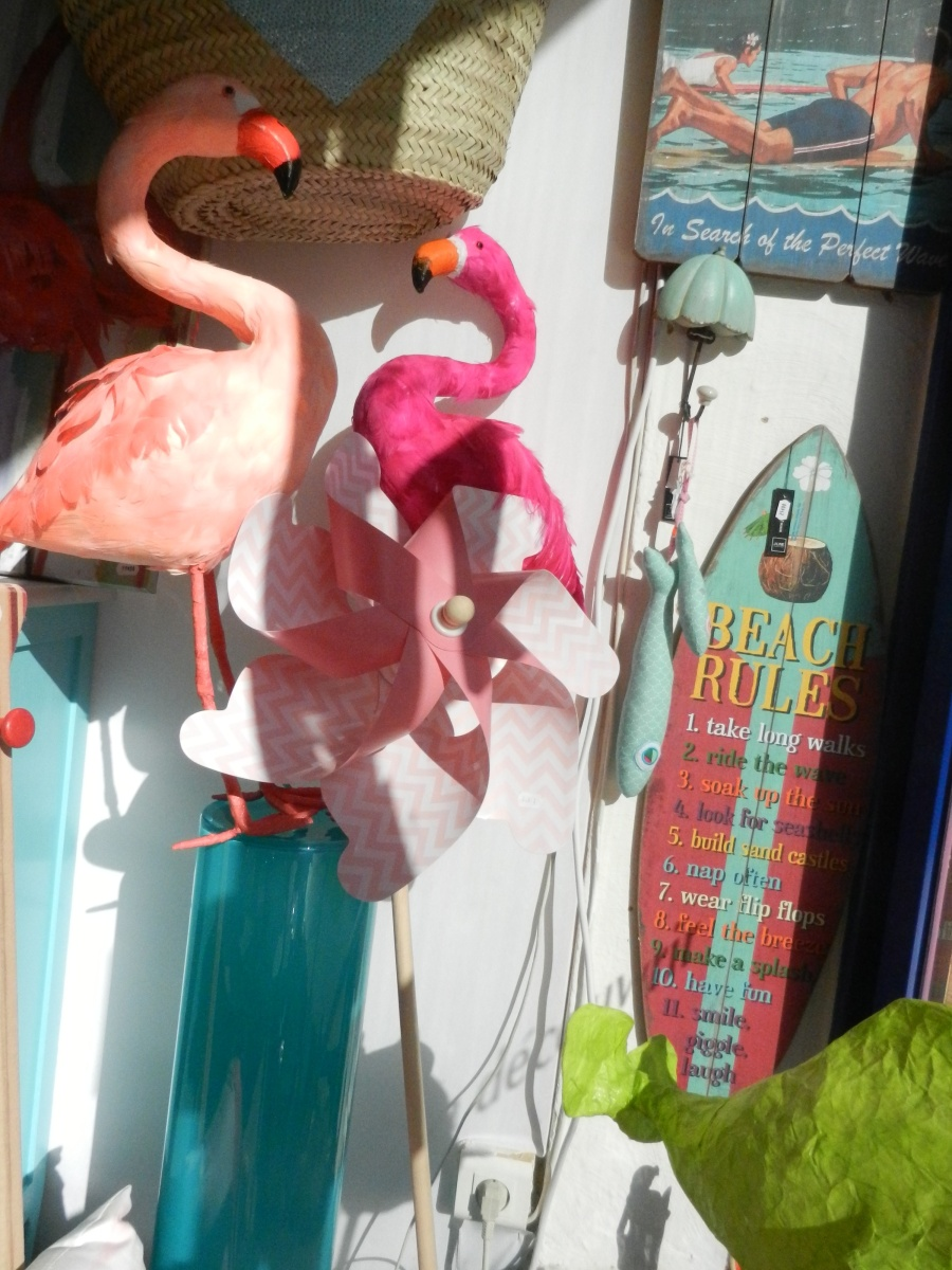 flamants roses en plumes. Rose Citron 2016