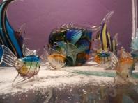 poissons en verre de Murano.Rose Citron 2016