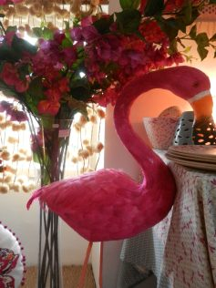 flamant rose fuchsia en plumes.Rose Citron 2016