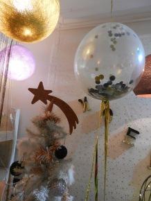 ballon confettis et paillettes.Noël 2016