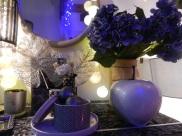 féerie de Noël bleu et argent