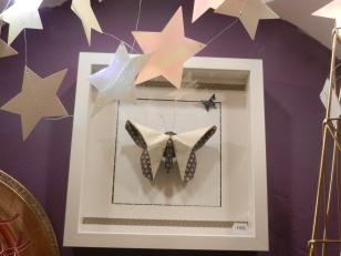 cadre papillon origami Mathil de Forner