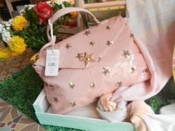 sac besace rose pailletée.Rose Citron 2017