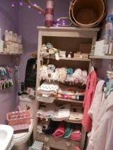 salle de bain lilas à Rose Citron.