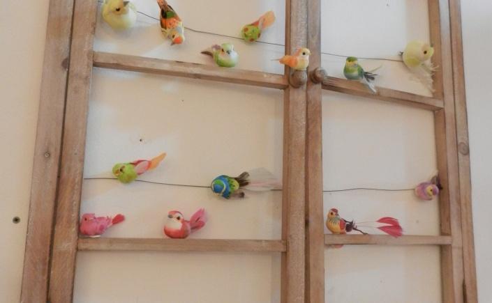 les oiseaux sont à la fenêtre .Rose Citron 2017