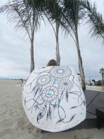 serviette ronde de plage