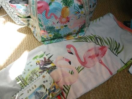 carnets et accessoires flamant rose