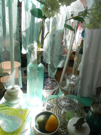 tonalité turquoise.Rose Citron 2017