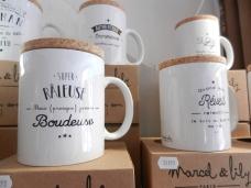 """Mugs """"dîtes-le avec des mots""""Noël 2017"""