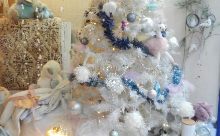 sapin blanc sur la banquise.Noël 2017