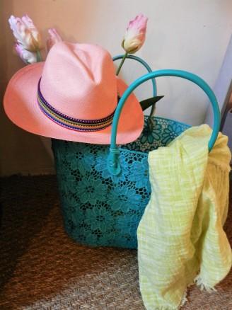 panama rose délavé et sac dentelle fiancée du mékong