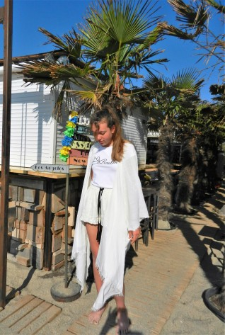 kimono ultra léger en voile de coton .chez Ginette